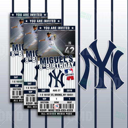 New York Yankees Baseball - Invite 1 - Product 1