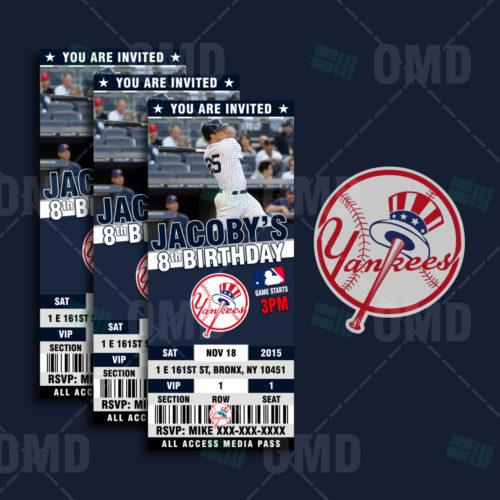 New York Yankees Baseball - Invite 2 - Product 1