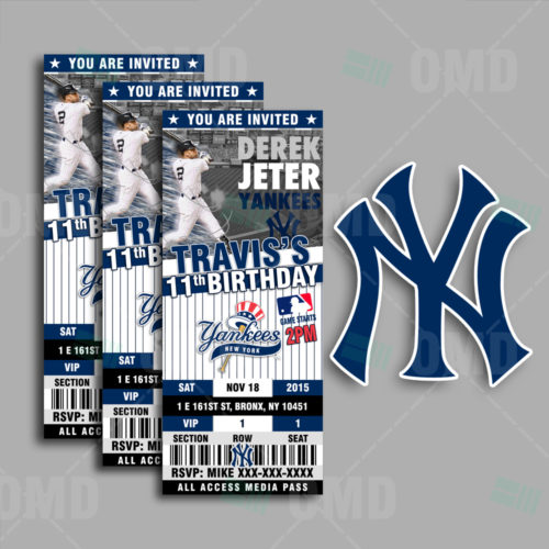New York Yankees Baseball - Invite 3 - Product 1