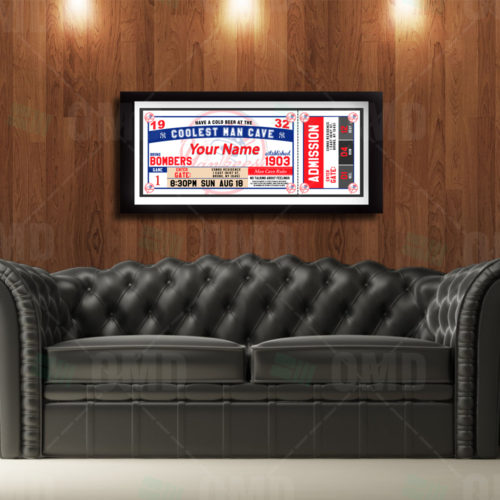 New York Yankees - Ticket - Man Cave Poster - Product 1