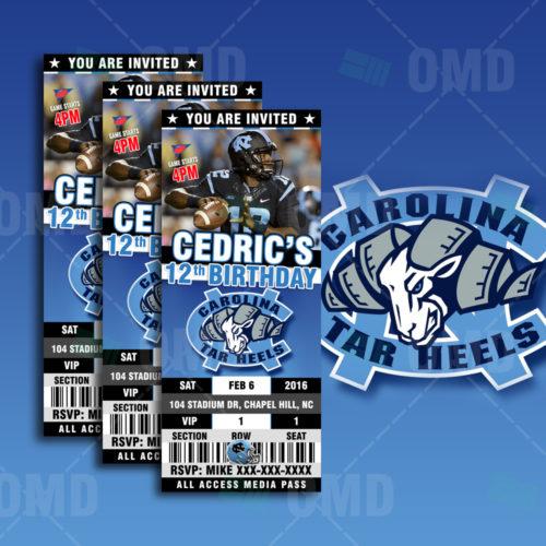 North Carolina Football - Invite 1 - Product 1