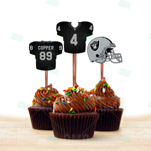 Oakland Raiders - Cupcake Topper 1 - Product 1