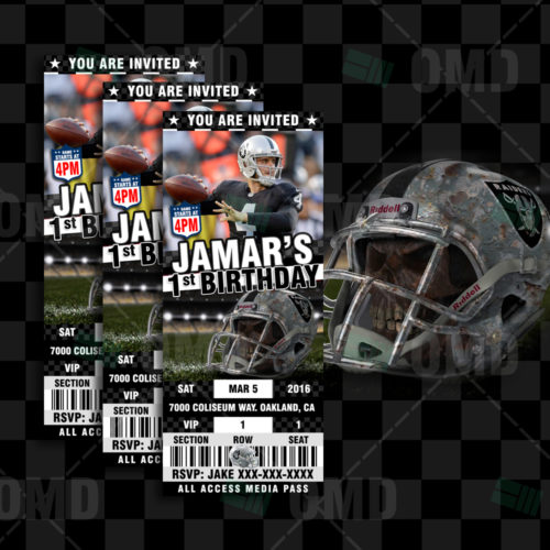 Oakland Raiders - Invite 2 - Product 1