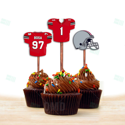 Ohio State Buckeyes - Cupcake Topper 1 - Product 2