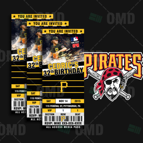 Pittsburgh Pirates Baseball - Invite 1 - Product 1