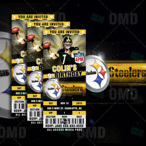 Pittsburgh Steelers - Invite - Product 1