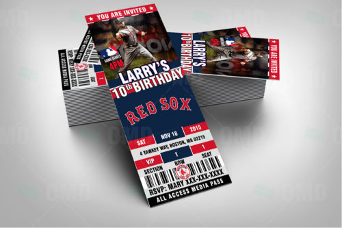 Red Sox Baseballl - Invite 1 - Product 2