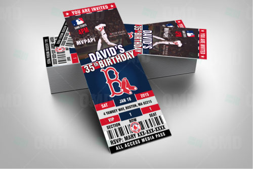 Red Sox Baseballl - Invite 2 - Product 2