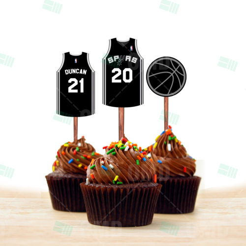 San Antonio Spurs - Cupcake Toppers 1 - Product 2