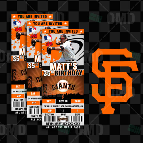 San Francisco Giants - Invite 1 - Product 1