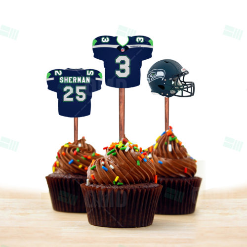 Seattle Seahawks - Cupcake Topper 1 - Product 1