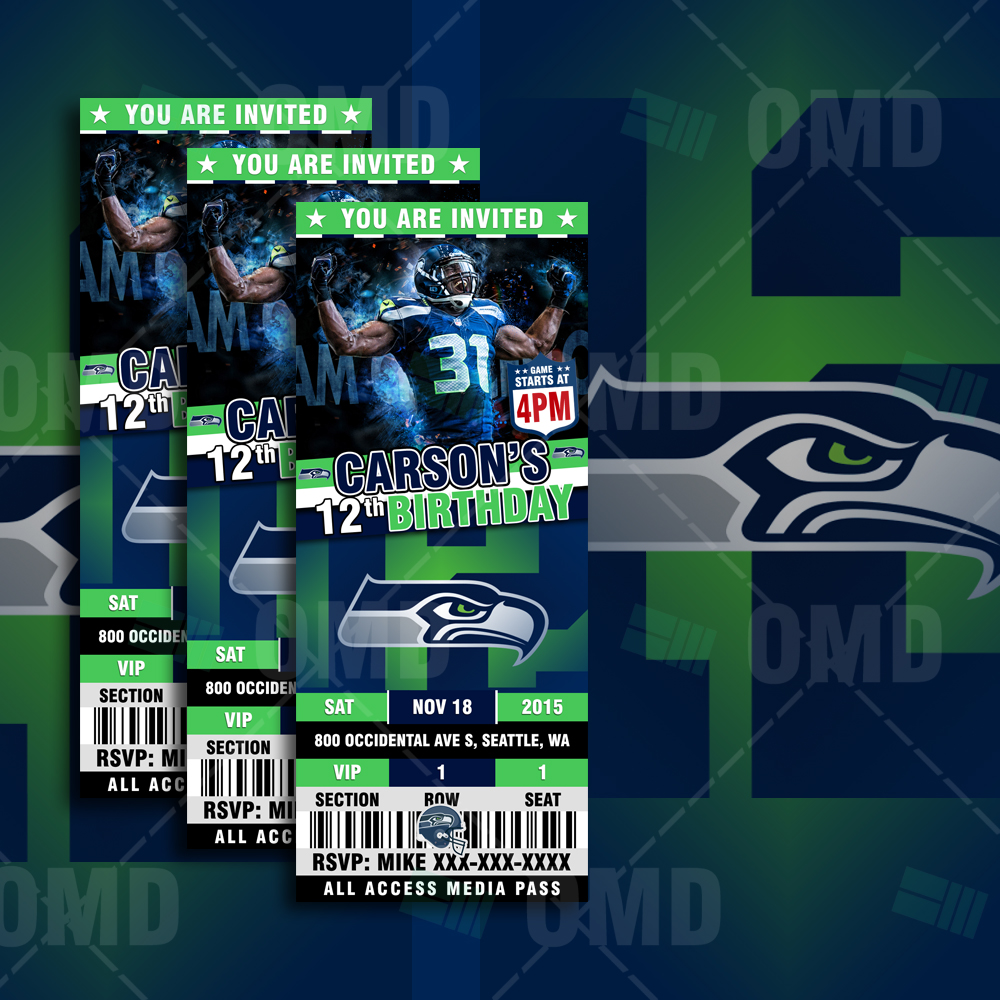 Sports Invites Seattle Seahawks Ultimate Party Package
