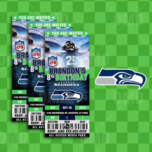 Seattle Seahawks - Invite 4 - Product 1