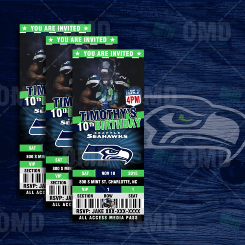 Seattle Seahawks - Invite - Product 1