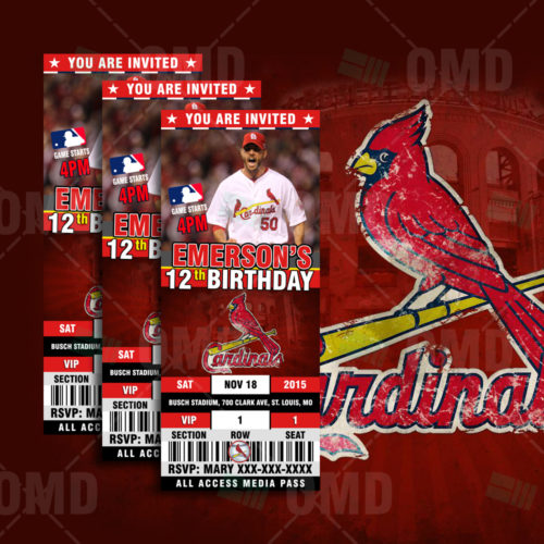 St Louis Cardinals Baseball - Invite 1 - Product 1