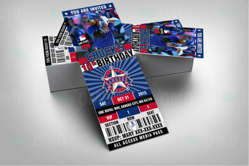 Texas Rangers Baseballl - Invite 1 - Product 2