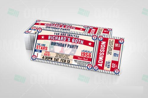 Texas Rangers - Invite 2 - Product 2