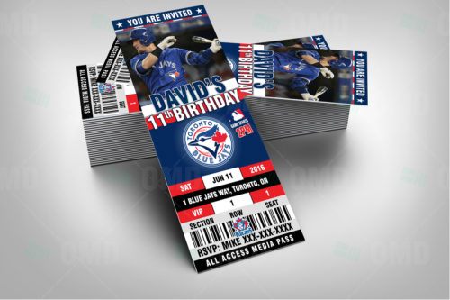 Toronto Blue Jays Baseball - Invite 1 - Product 2-1