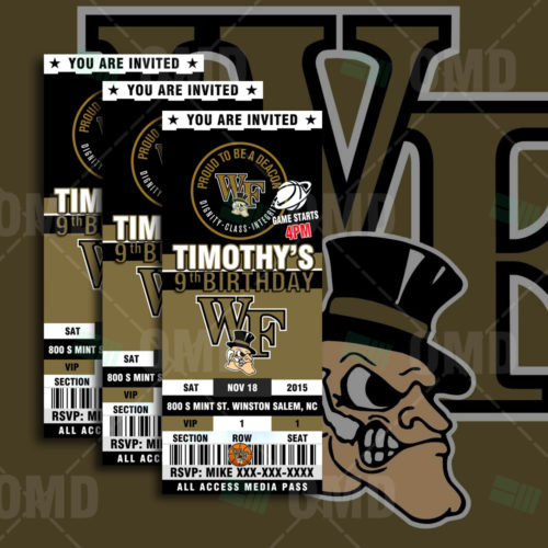 Wake Forest Basketball - Invite - Product 1