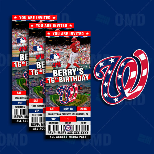 Washington Nationals  Baseball - Invite 1 - Product 1