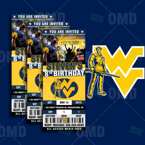 West Virginia Mountaineers - Invite 1 - Product 1