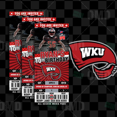 Western Kentucky Hilltoppers - Invite 2 - Product 1