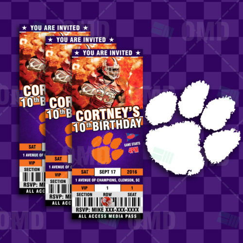 Clemson Tigers Football - Invite - Product 1-1