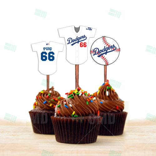 Los Angeles Dodgers - Cupcake Toppers - Product 1