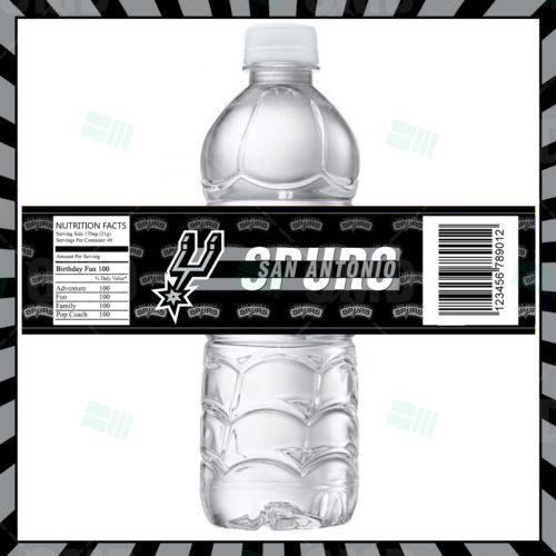 San Antonio Spurs - Bottle Label 1 - Prooduct 1