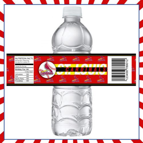 St Louis Cardinals Baseball - Bottle Label 1 - Product 1