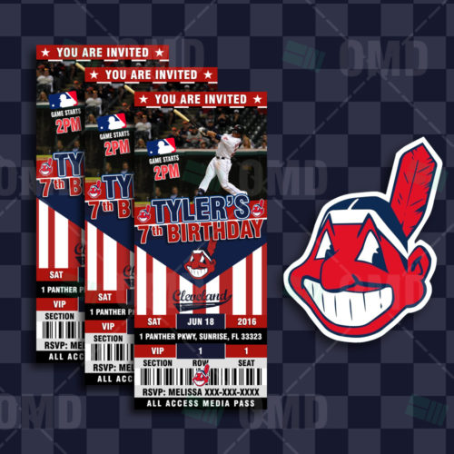 Cleveland Indians - Invite 1 - Product 1