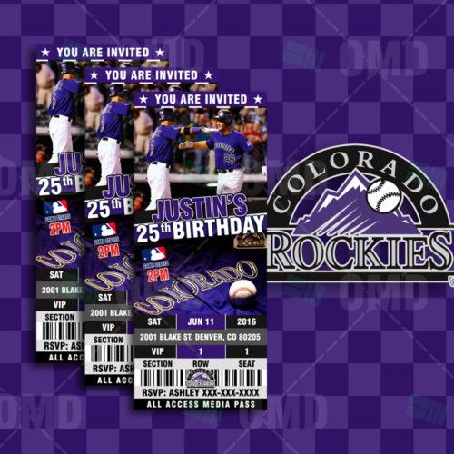 Colorado Rockies Baseball - Invite 1 - Product 1