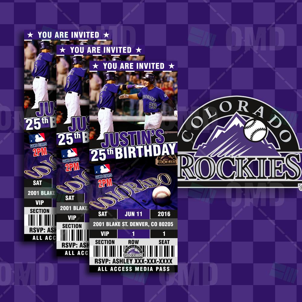 2.5×6″ Colorado Rockies Baseball Sports