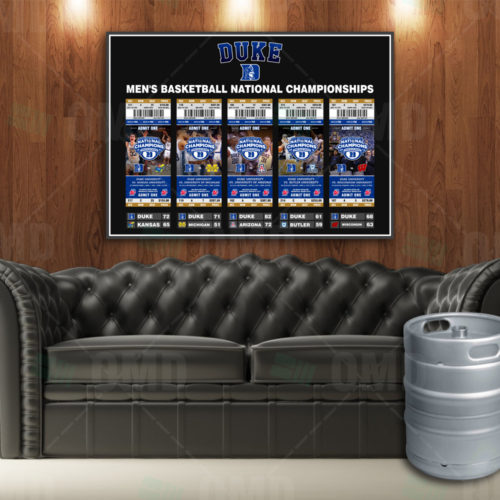 Duke Blue Devils - Nation Championship Poster - Product 1