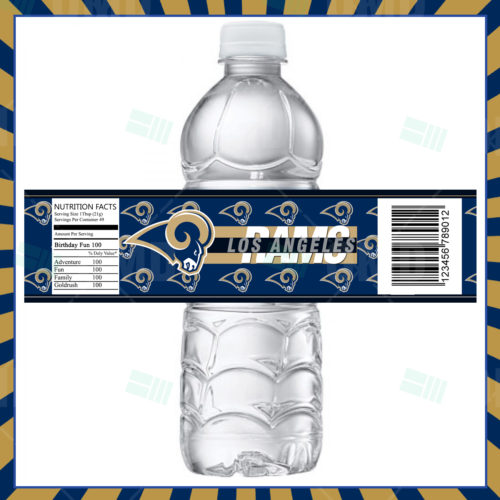 Los Angeles Rams - Bottle Label - 1 - Product 1
