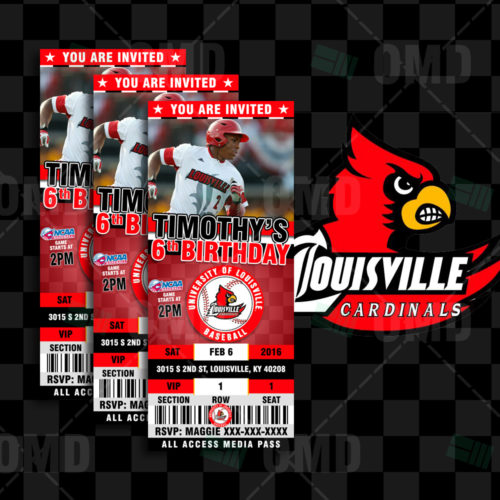 Louisville Cardinals Baseball - Invite 1 - Product 1
