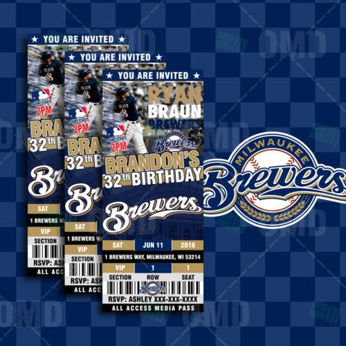 Milwaukee Brewers Baseball - Invite 1 - Product 1