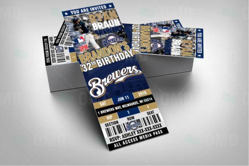 Milwaukee Brewers Baseball - Invite 1 - Product 2
