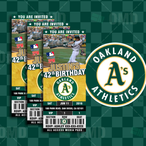 Oakland Athletics Baseball - Invite 1 - Product 1