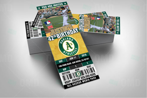 Oakland Athletics Baseball - Invite 1 - Product 2