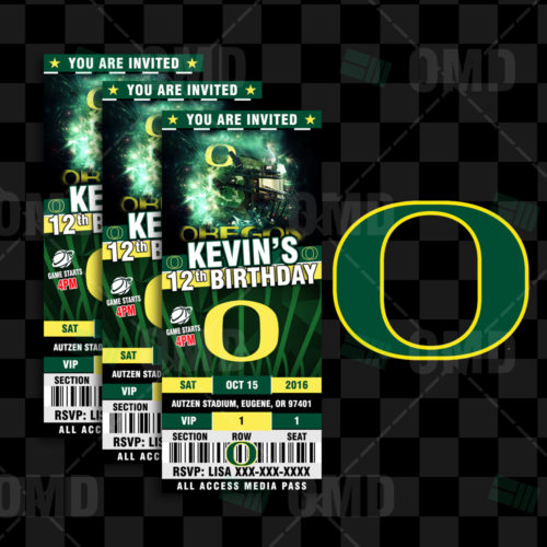 Oregon Ducks - Invite 2 - Product 1