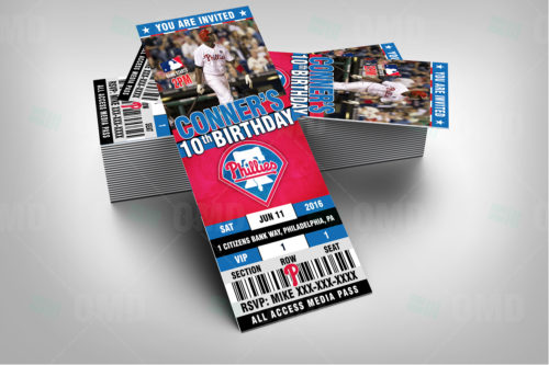 Philadelphia Phillies Baseball - Invite 1 - Product 2