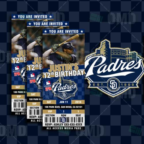 San Diego Padres Baseball - Invite 1 - Product 1