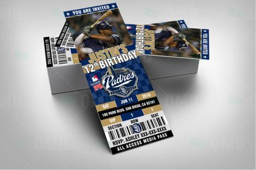 San Diego Padres Baseball - Invite 1 - Product 2