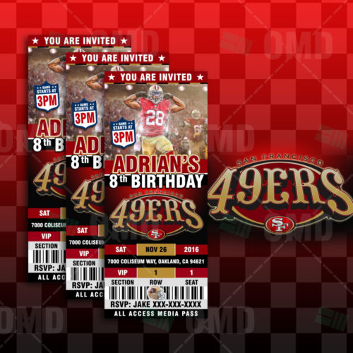 San Francisco 49ers - Invite 3 - Product 1