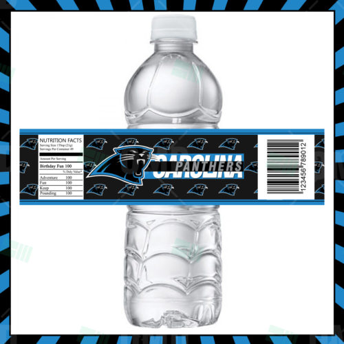 Carolina Panthers - Bottle  Label - Product 1