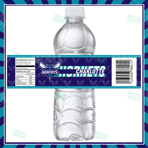Charlotte Hornets - Bottle  Label - Product 1