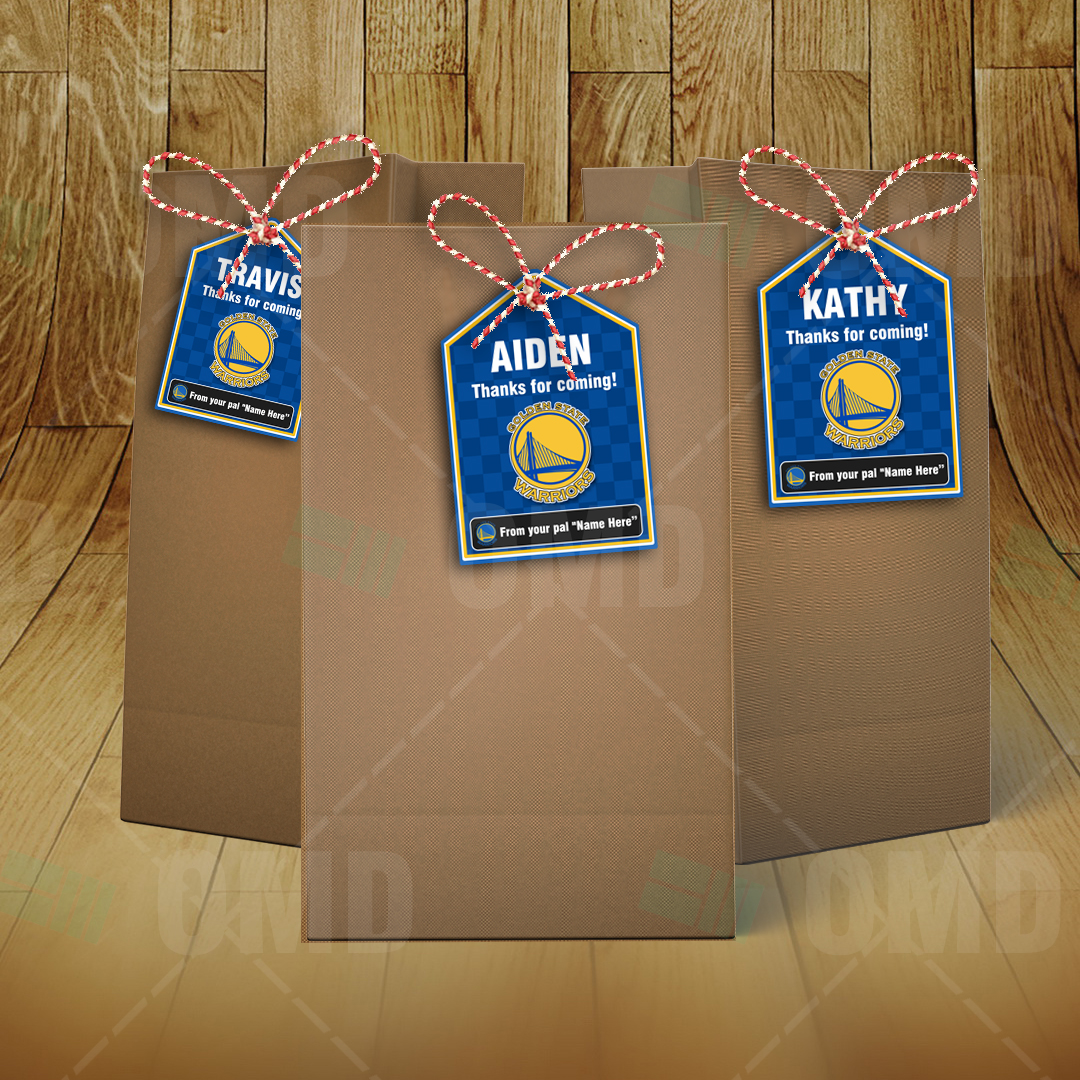 golden state warriors bag tags � lollie tags template