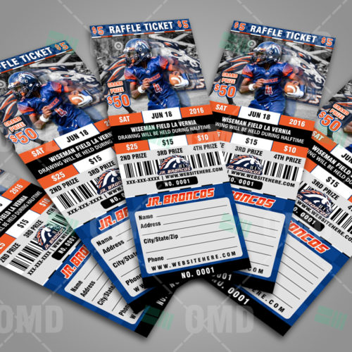 Raffle Ticket Design 4 - Jr Broncos - Proof - Product 3