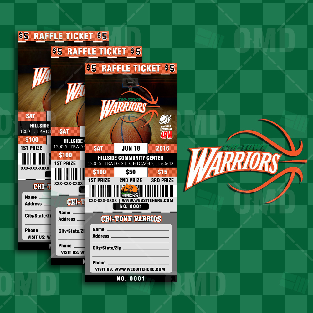 Sports Invites Basketball Raffle Ticket Template – Sports Ticket Template